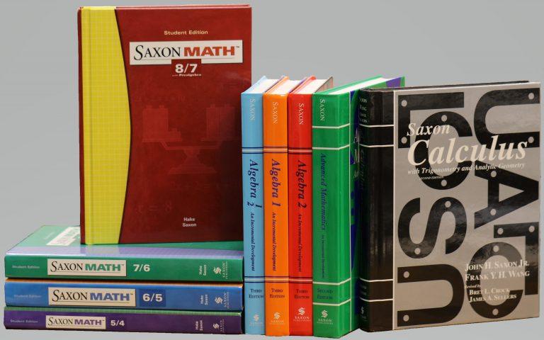 Picture of Saxon Math books